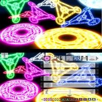 【MOD配布】3Dカスタム少女対応版 MikuMikuDanceMME風 なのは魔法陣